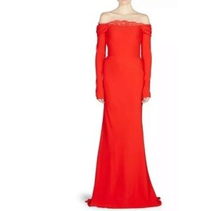 Alexander Mcqueen Draped Off The Shoulder Gown